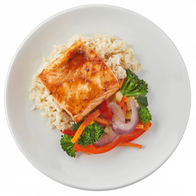 Teriyaki Salmon with Brown Rice & Veggies