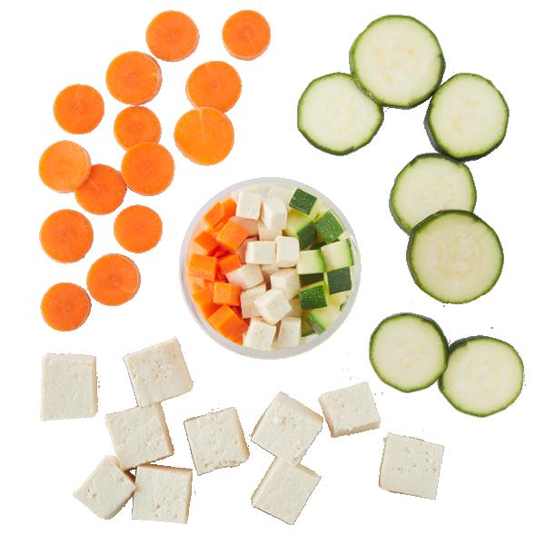 Tofu, Sweet Soy Glazed Carrot & Zucchini
