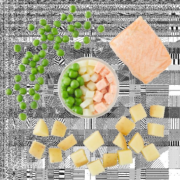 Salmon, English Pea & Golden Potato