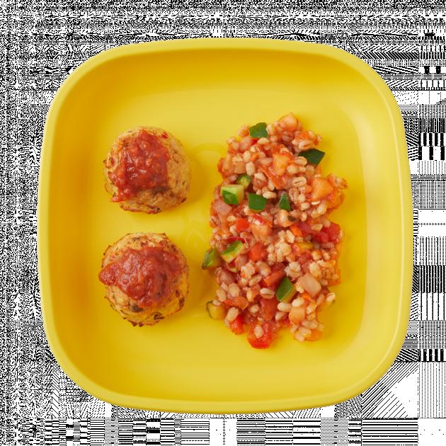 Lentil Meatballs with Ratatouille