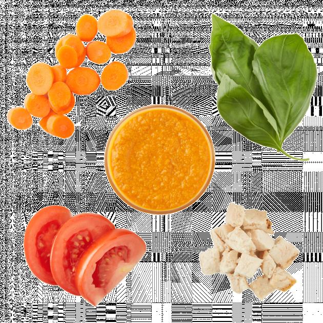 Chicken, Carrot, Tomato & Basil